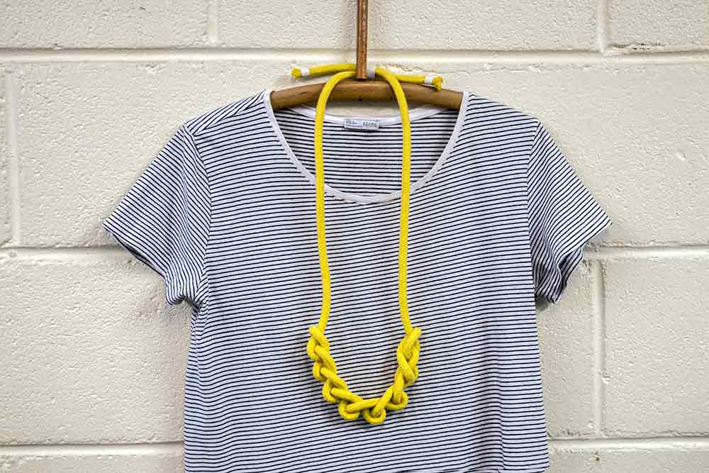 Cotton Rope Necklace long