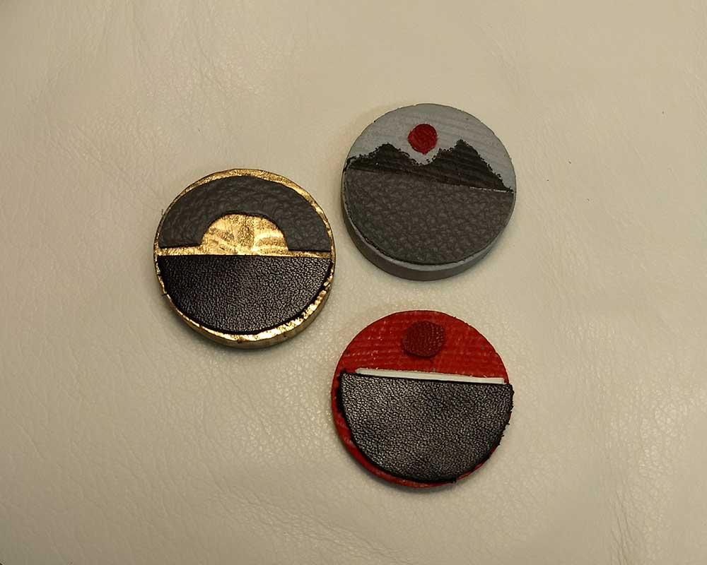 Leather Jewellery Brooch Samples