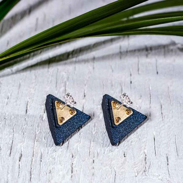 Paper Jewelry Geometric Earrings