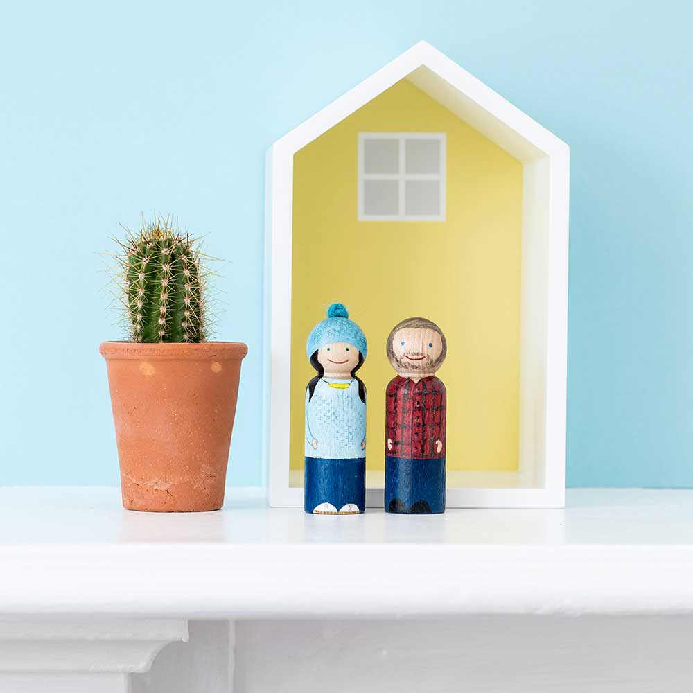 Fifth Anniversary Gift Ideas Wooden peg people