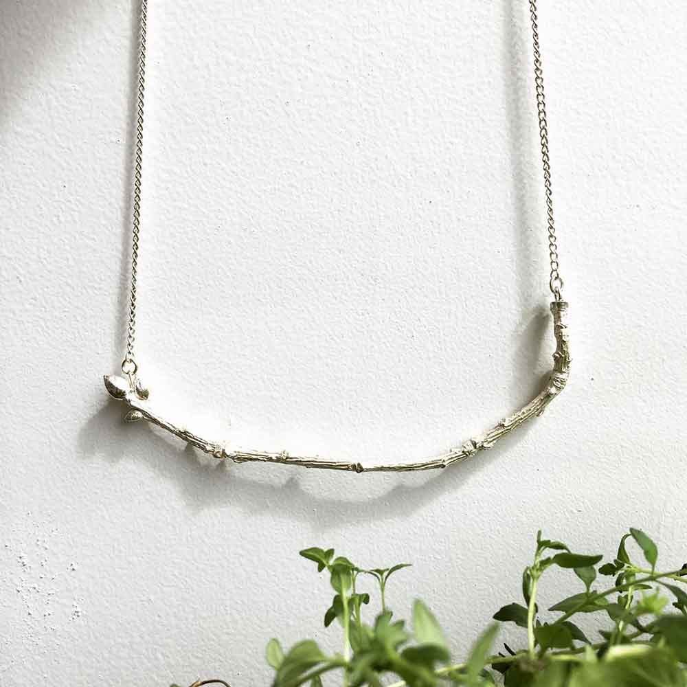 Nature inspired jewellery twig necklace