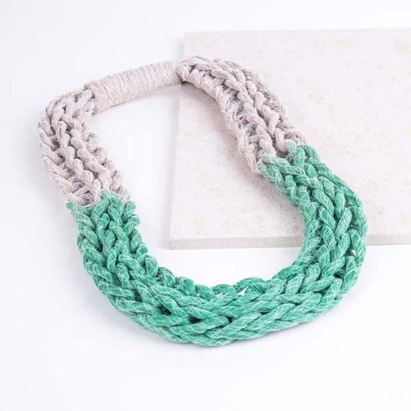 Green Woven Jewellery Statement