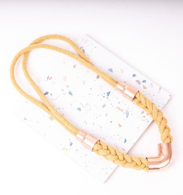 Yellow Woven Necklace