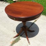 refinished side table