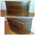 Antique dresser before and after