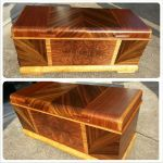 Refinished antique cedar chest