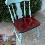 Distressed Painted Chair