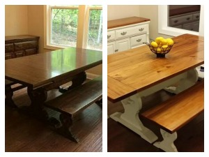 A Farm Table Makeover