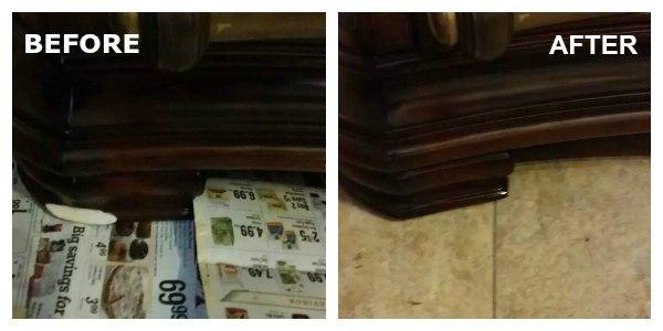Chipped Dresser Foot Repair