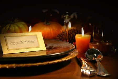 Thanksgiving Dining Table Setting