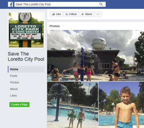 Loretto Save the Pool Facebook Page