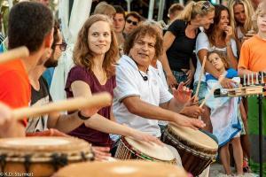 18.07.2014 Salsa am Strand in Scharbeutz - Drumming