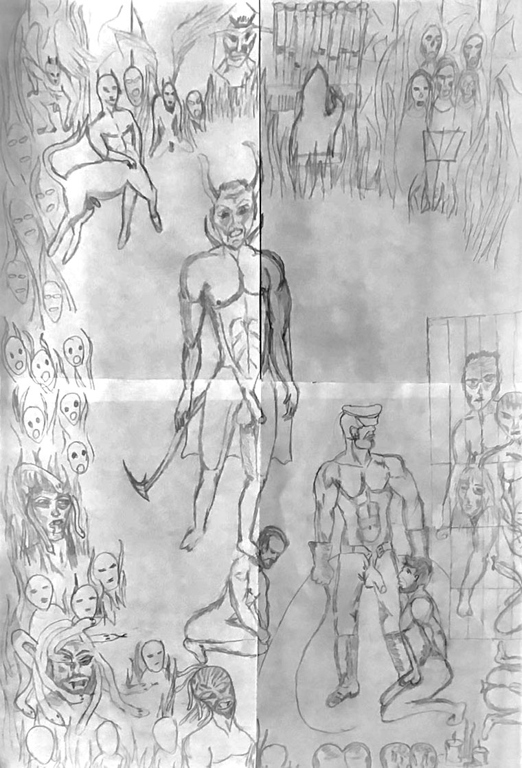 sketch of painting