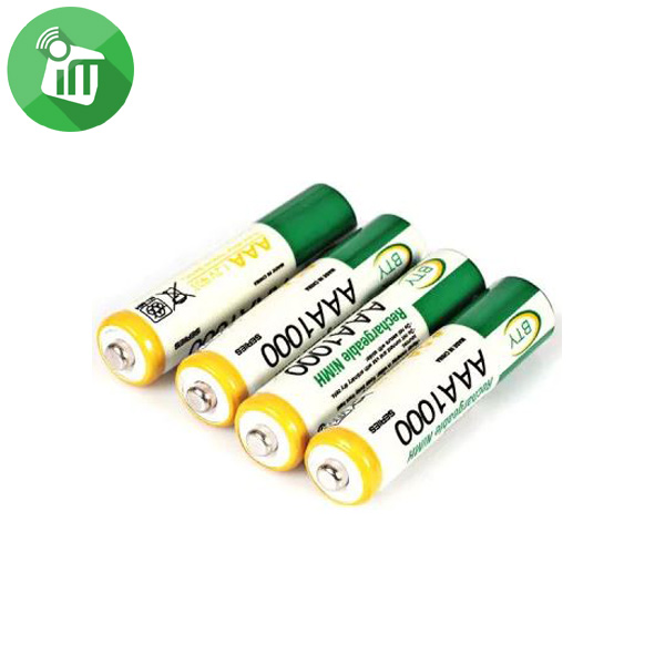 BTY Super Alkaline 2PCS AAA Rechargeable Battery 1000mAh