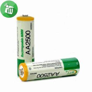 BTY Super Alkaline 2PCS AA Rechargeable Battery 2500mAh