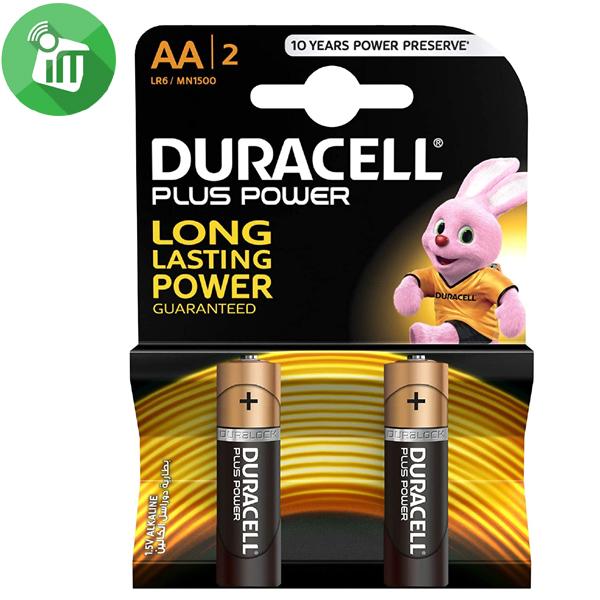 Duracell Plus Power AA Batteries 1.5V 2PCS