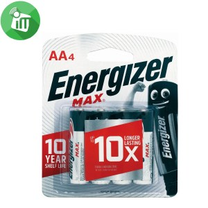 Energizer 4PCS AA Max + Powerseal Batteries 1.5V