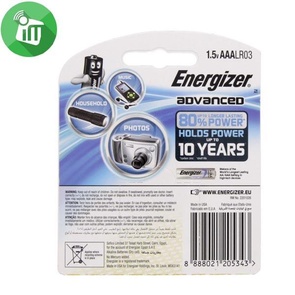 Energizer 4PCS AAA ADVANCED + Power Boost 1.5V