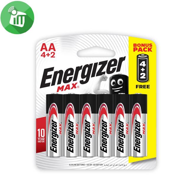 Energizer 6PCS AA Max + Powerseal Batteries 1.5V