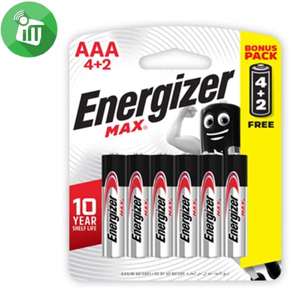 Energizer 6PCS AAA Max + Powerseal Batteries 1.5V