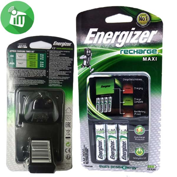 Energizer Maxi Charger Batteries With 4PCS AA Recharge Battery 2000mAh