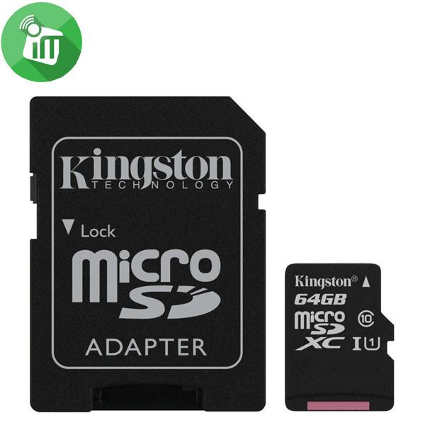 Kingston 64GB Class 10 80MB/s SDHC Micro Memory card
