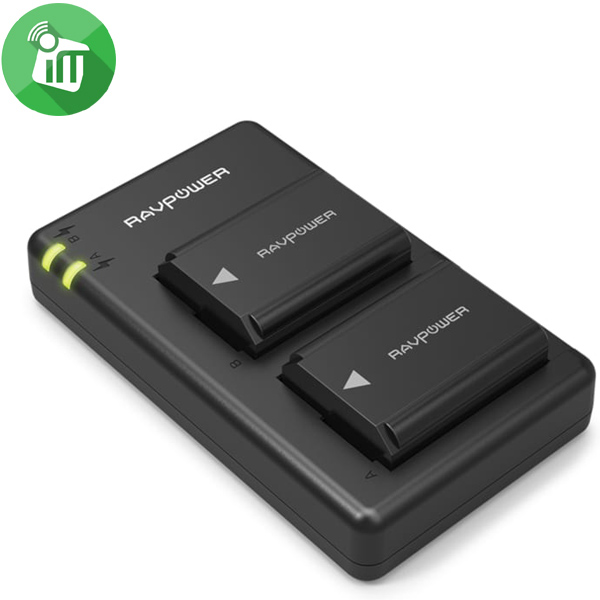 RAVPower NP-FW50 Camera Dual Battery Charger Set for Sony