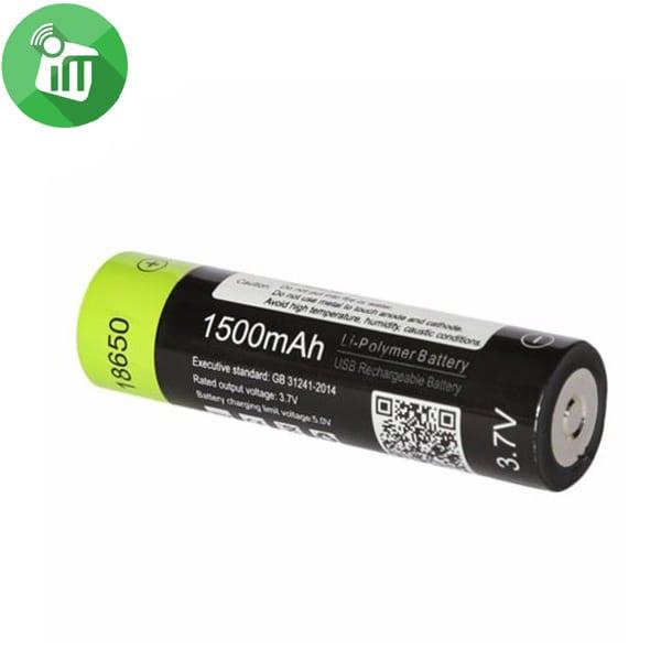 ZNTER Li-polymer 1PCS Size 18650 Micro USB Rechargeable Battery 1500mAh-3.7V