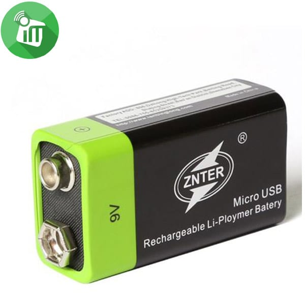 ZNTER Li-polymer 1PCS Size 9V Micro USB Rechargeable Battery 400mAh-9.0V