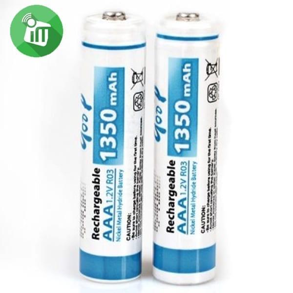 qoop Super Alkaline 2PCS AAA Rechargeable Battery 1350mAh - 1.2V