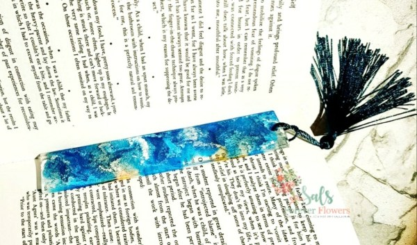 Coloured Alcohol Ink Bookmarks