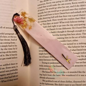 Real flower Bookmark with optional personalisation