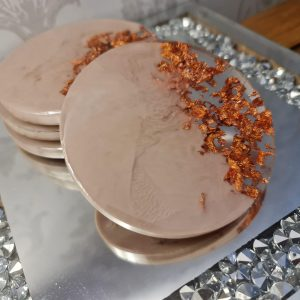 Rose Gold and Nude Coaster sets