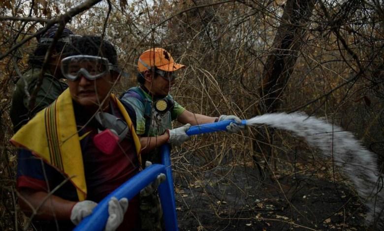 Incendio Bolivia Fuente: Prensa Evo Morales.