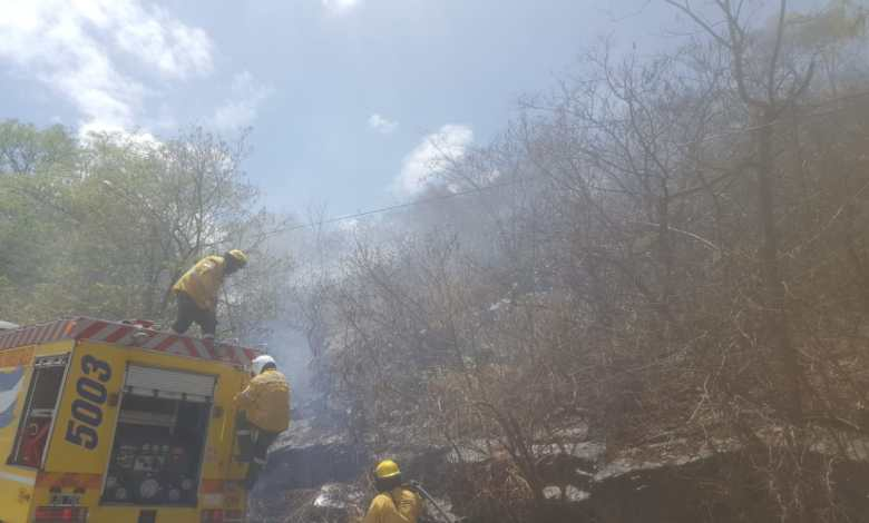 Incendio en Cerro San Bernardo - Fuente: Salta4400