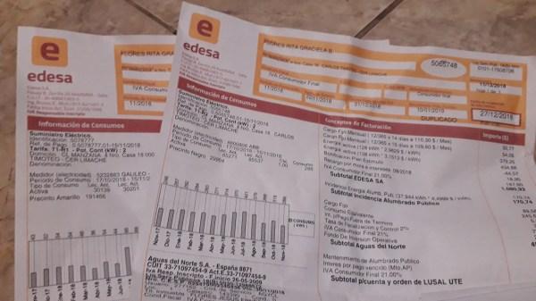 Boleta de servicios públicos - foto: Salta4400.com -Derechos Reservados-
