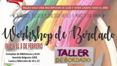 """Photo of """"Workshop de Bordado"""": bordados con tejidos, hechos a mano y con amor"""