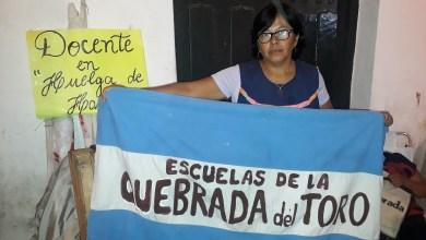 Photo of Paro docente en Salta: la maestra en huelga de hambre reclamó soluciones urgentes