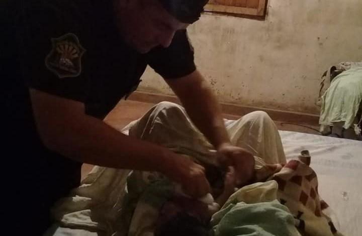 Policías asistieron un parto en Tartagal - Foto: Policía de la Provincia de Salta