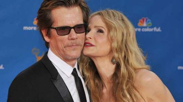Kevin Bacon y su esposa