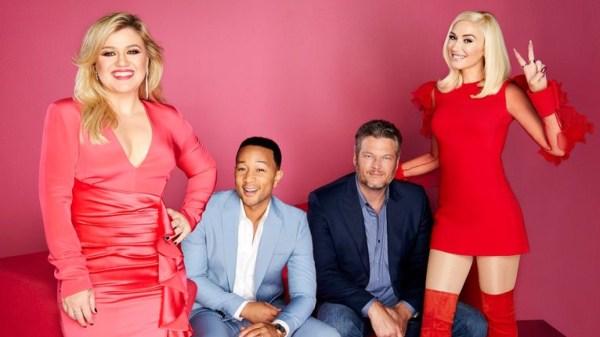Gwen Stefani, Blake Shelton, John Legend, Kelly Clarkson