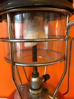 Vintage red Tilley lamp