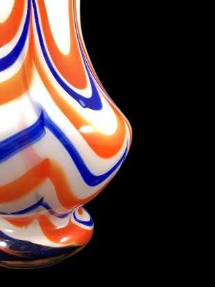Stunning hand blown glass vase