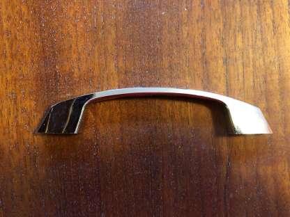 Set of twelve fluted chrome handles