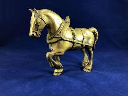 vintage brass horse