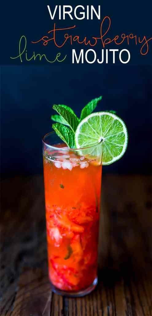 Virgin Strawberry Lime Mojito