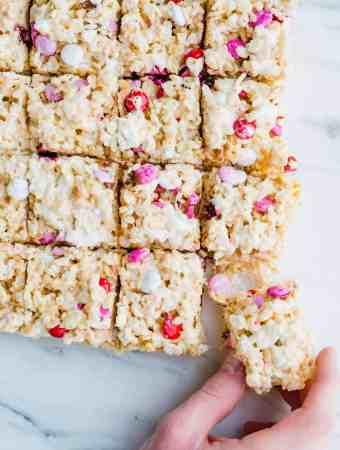 Valentines Day M&M Rice Krispie Treats