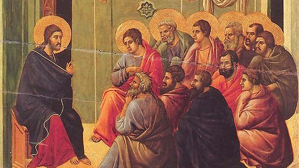 Duccio di Buon insegna, Christ Taking Leave of the Apostles