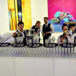 Bartenders for a gallery event in London