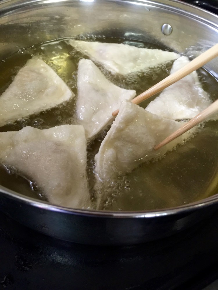 Frying Gau Gee